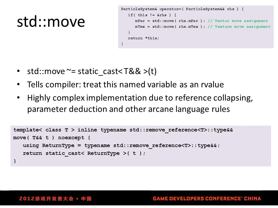 std::move std::move ~= static_cast< T&& >(t)