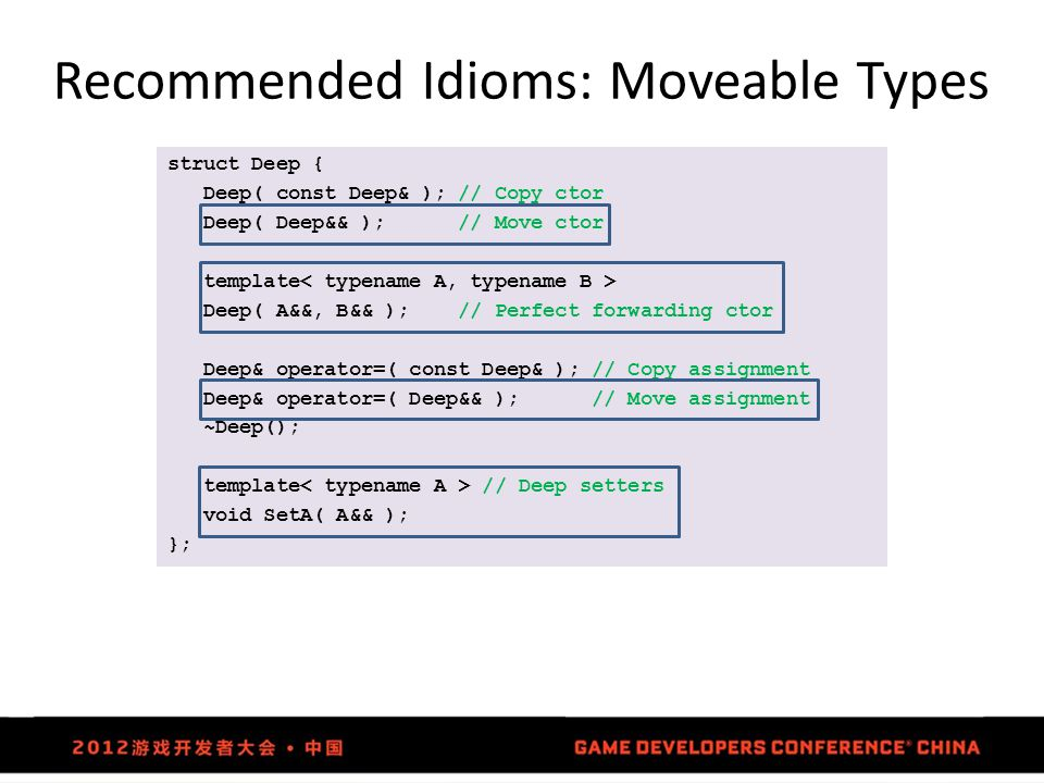 Recommended Idioms: Moveable Types