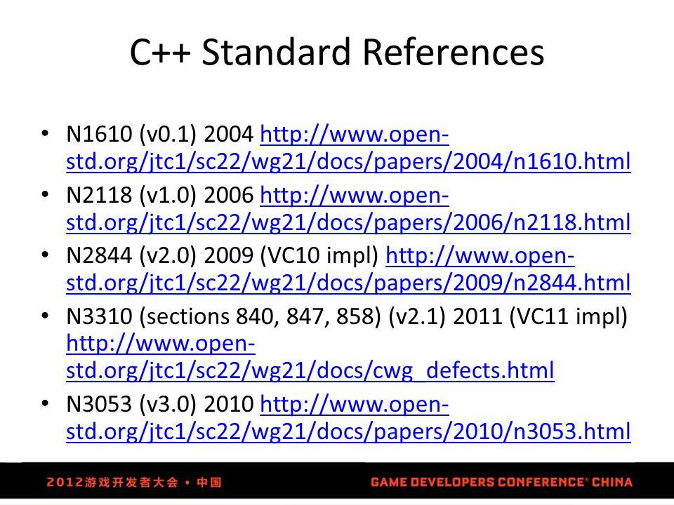 C++ Standard References