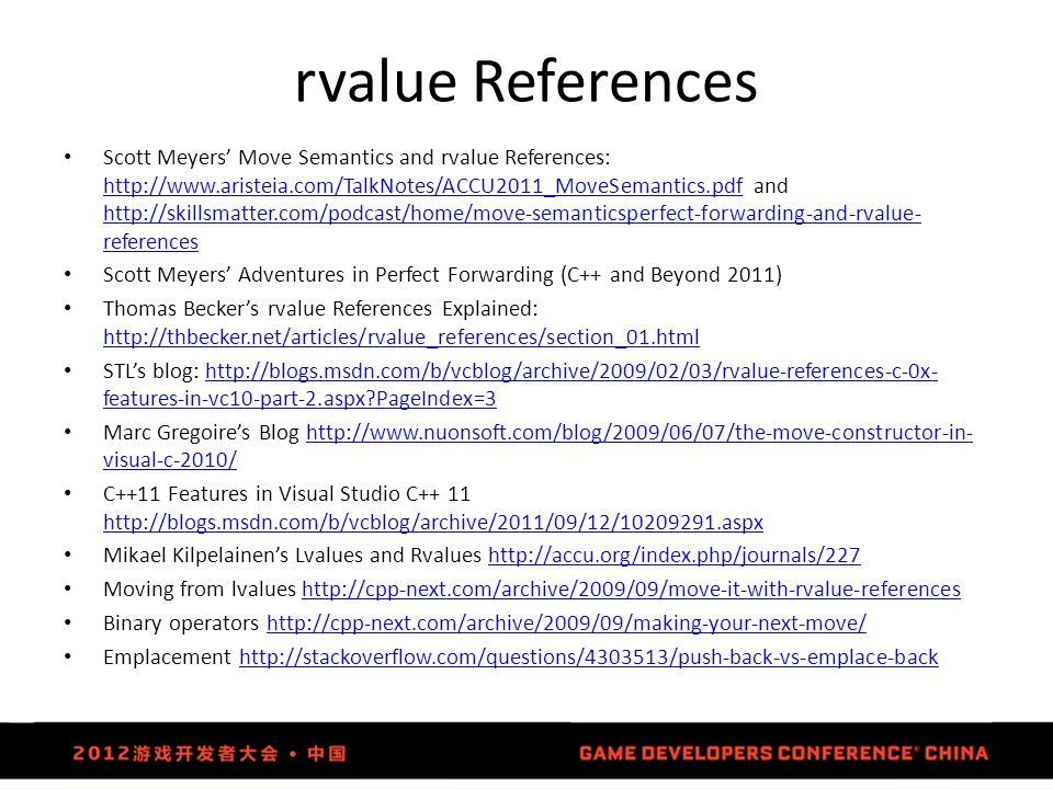 rvalue References
