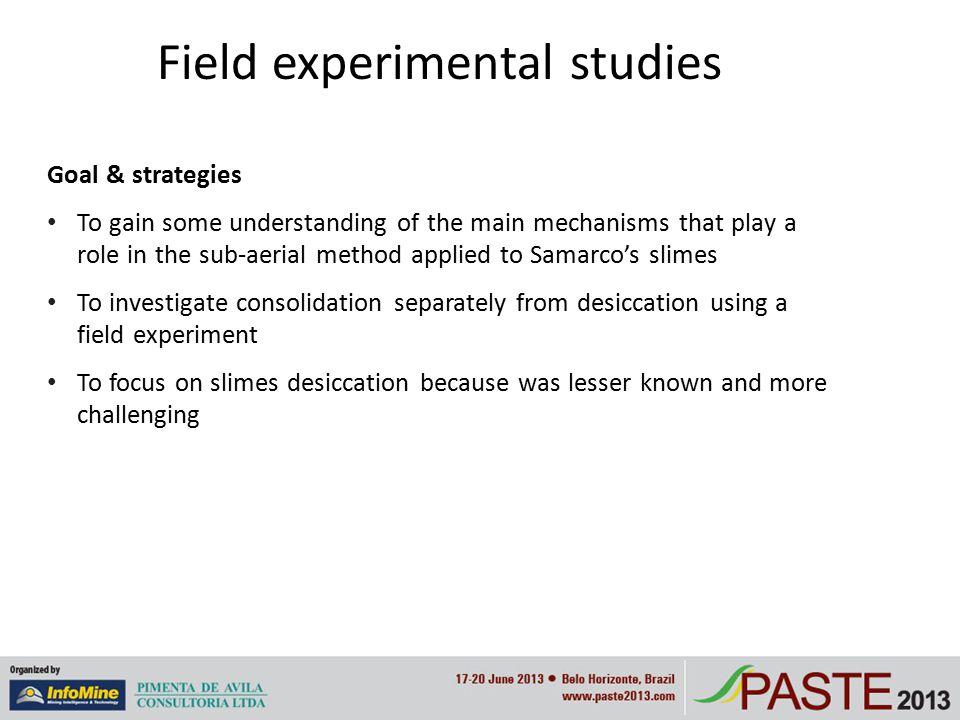Field experimental studies