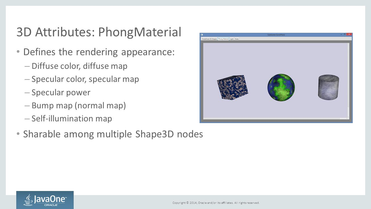 3D Attributes: PhongMaterial