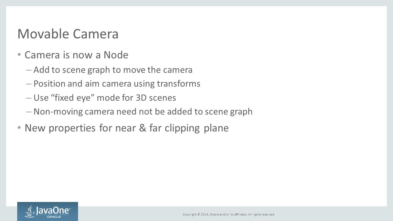 Movable Camera Camera is now a Node