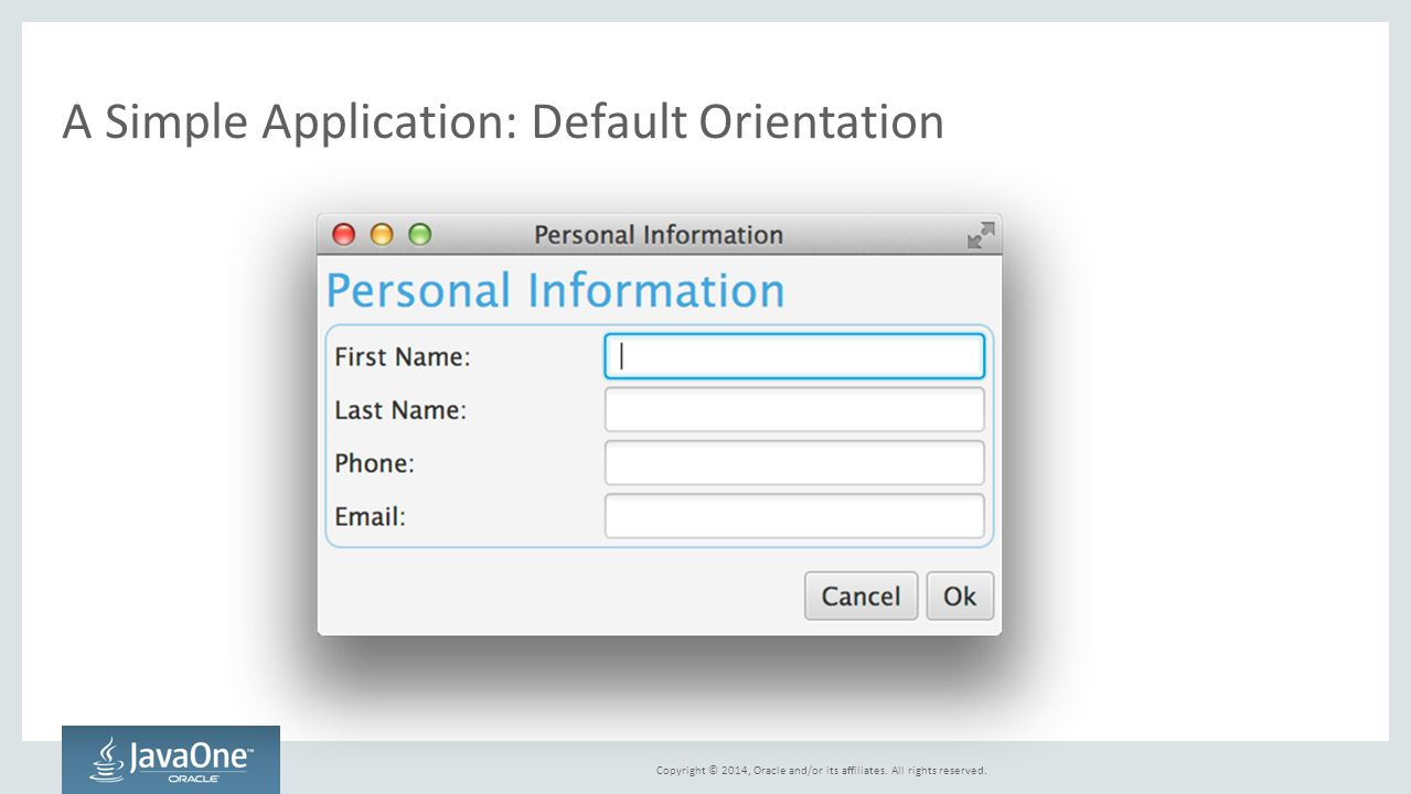 A Simple Application: Default Orientation