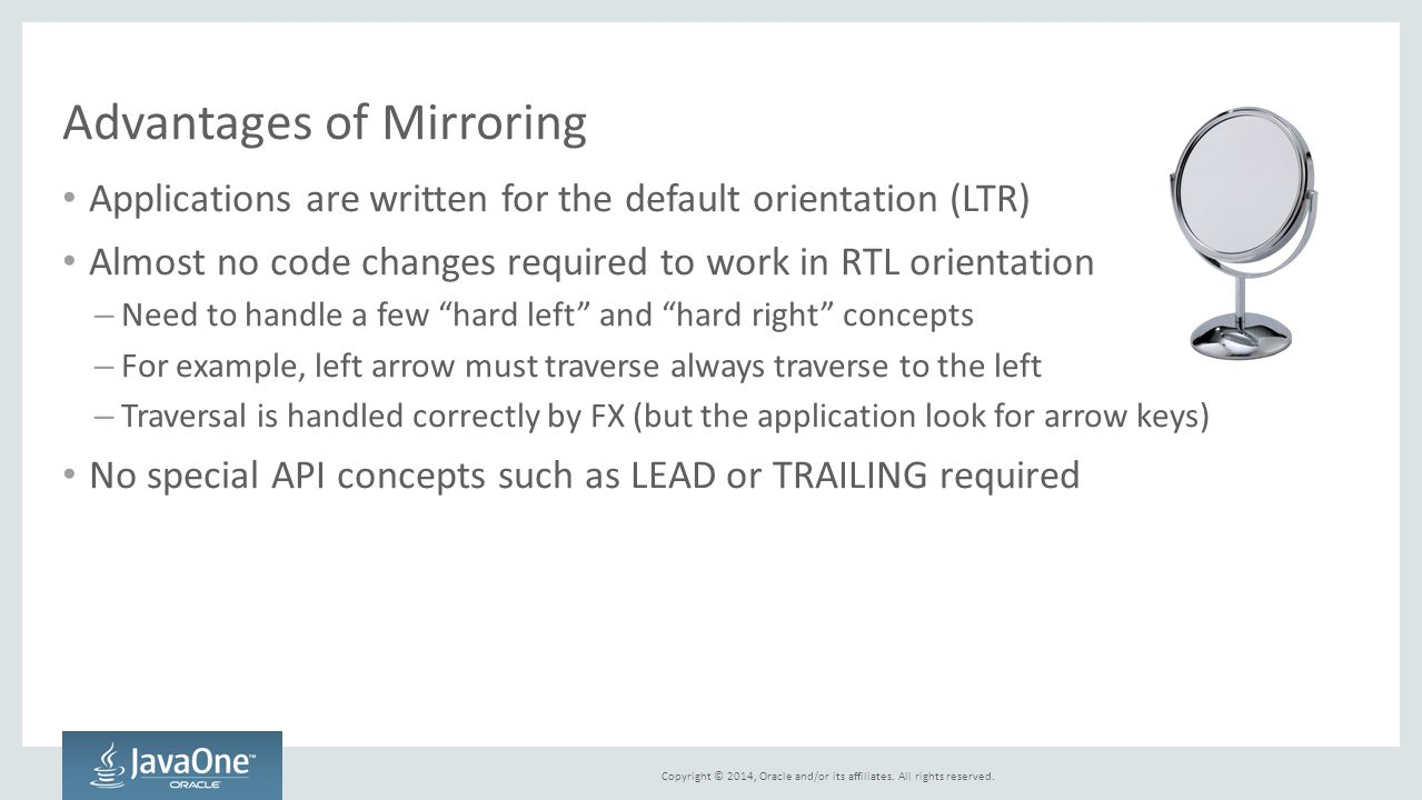 Advantages of Mirroring