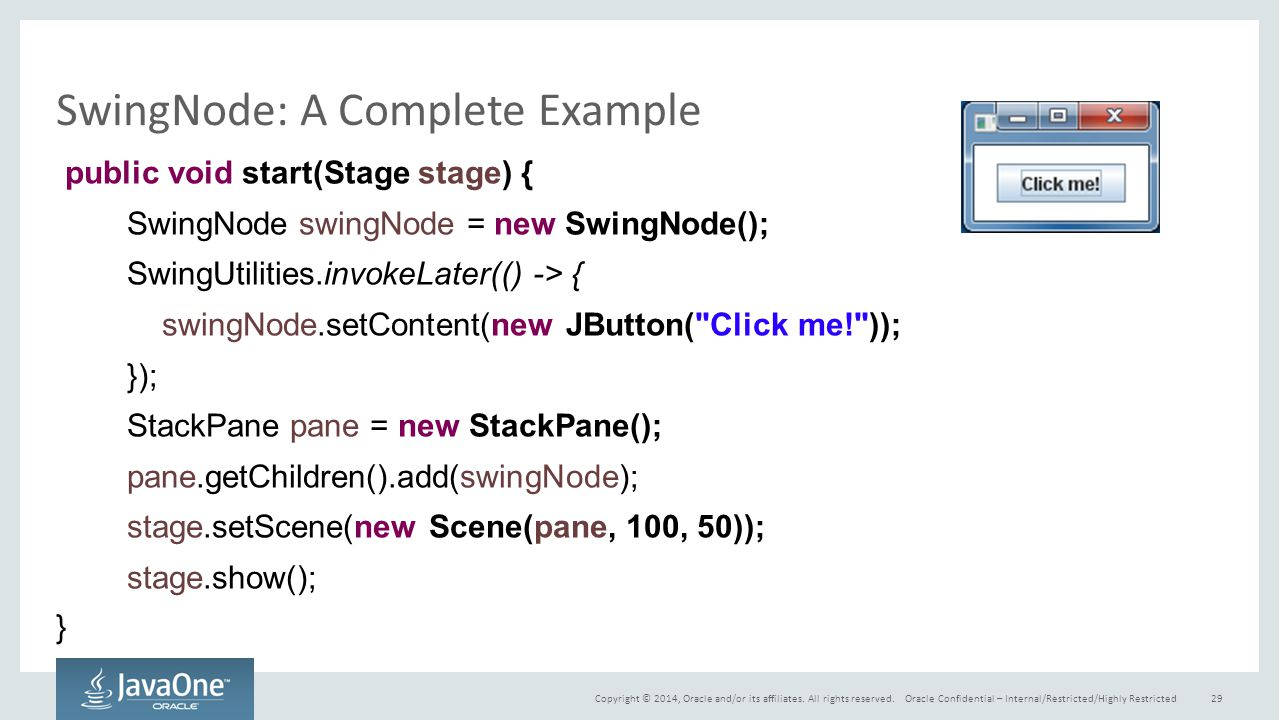 SwingNode: A Complete Example