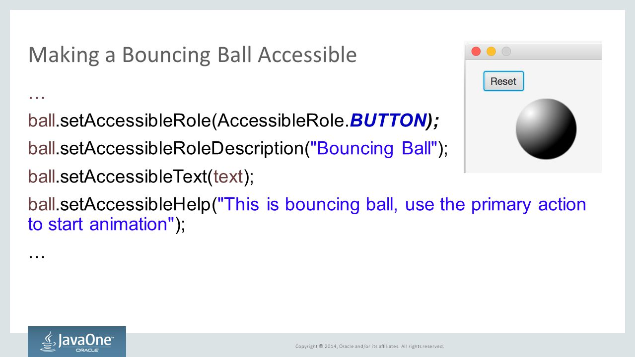Making a Bouncing Ball Accessible