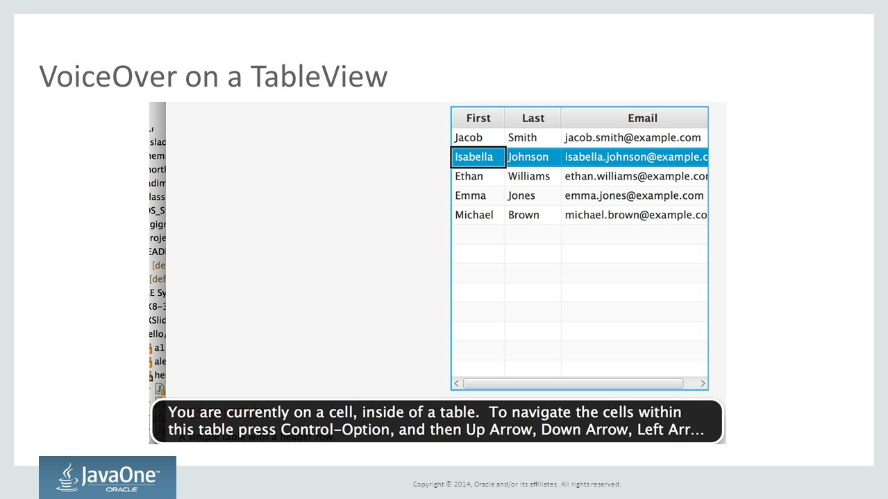 VoiceOver on a TableView