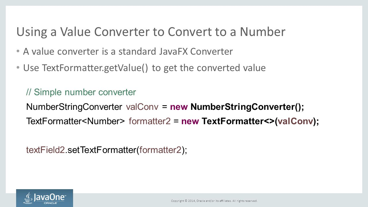 Using a Value Converter to Convert to a Number