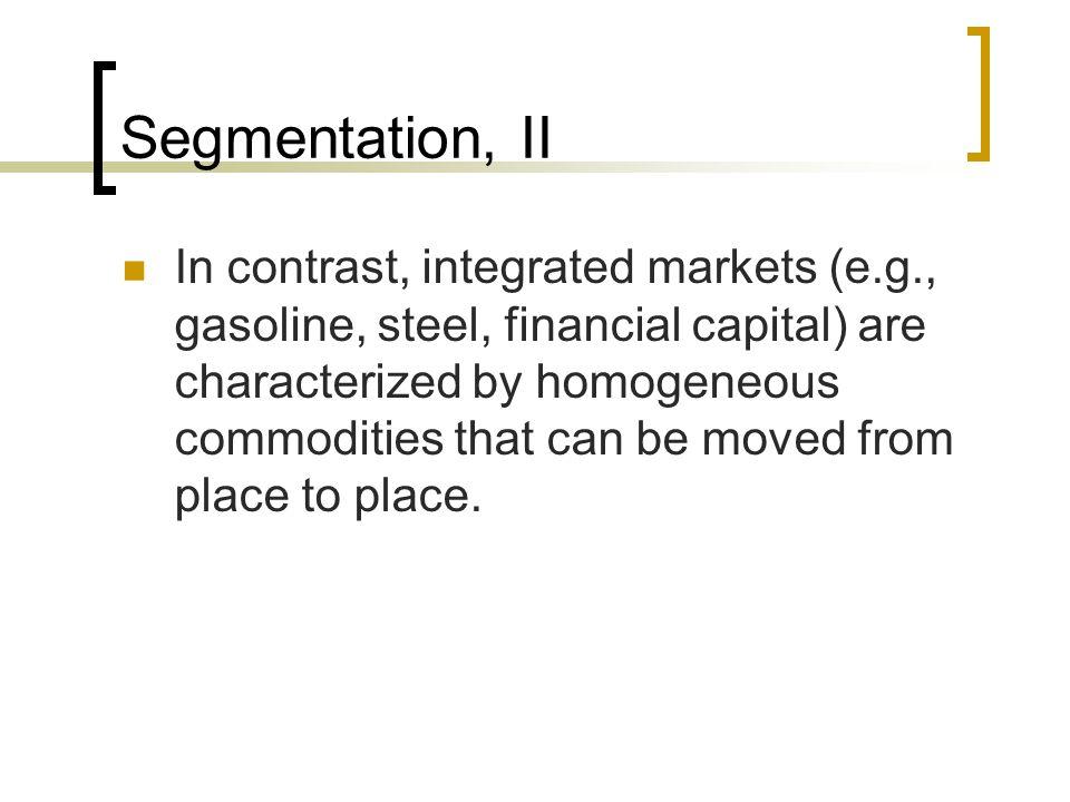 Segmentation, II