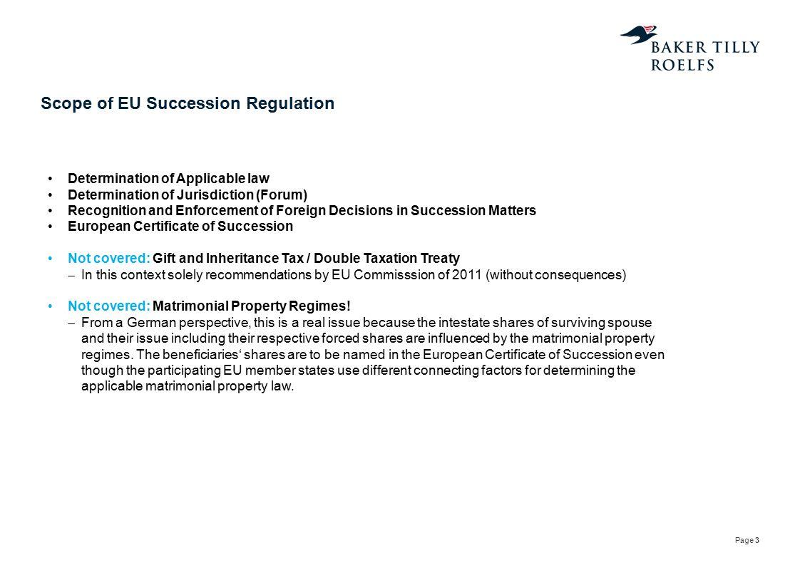 Scope of EU Succession Regulation