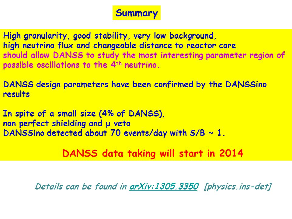 Summary High granularity, good stability, very low background,