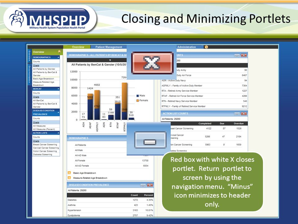 Closing and Minimizing Portlets