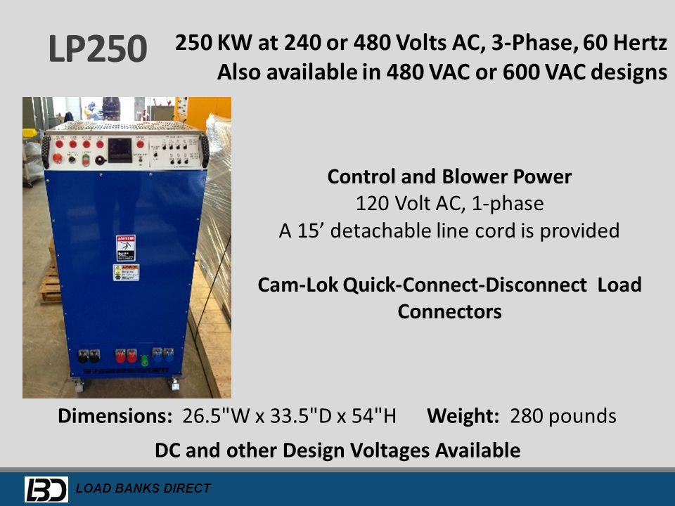 Cam-Lok Quick-Connect-Disconnect Load Connectors