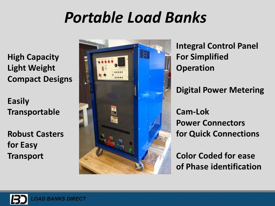 Portable Load Banks Integral Control Panel For Simplified Operation