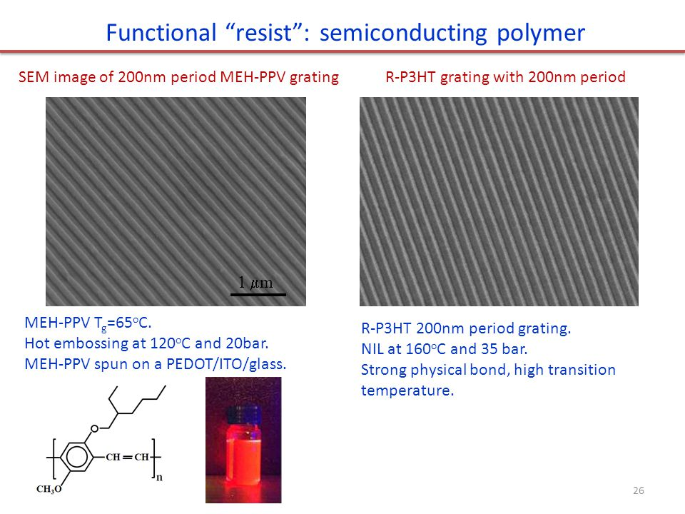 Functional resist : semiconducting polymer