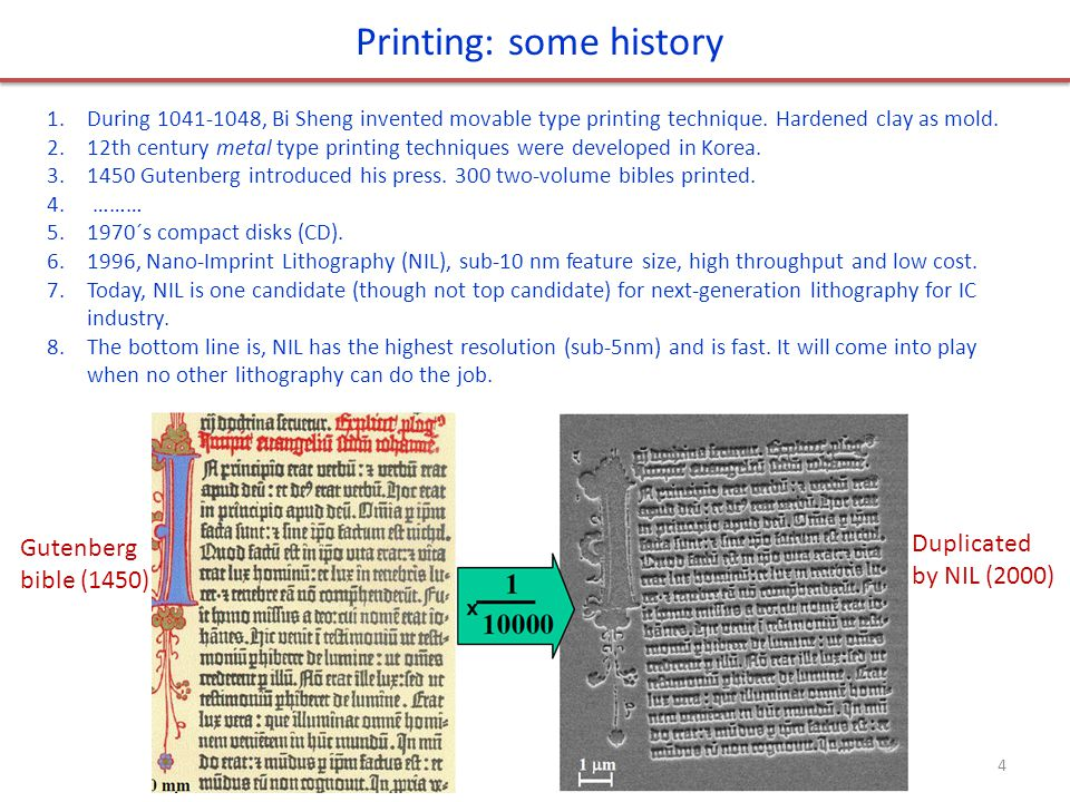 Printing: some history