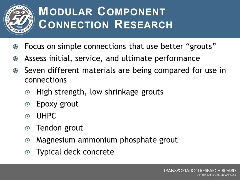 Modular Component Connection Research