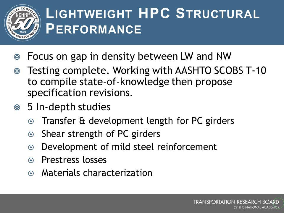 Lightweight HPC Structural Performance
