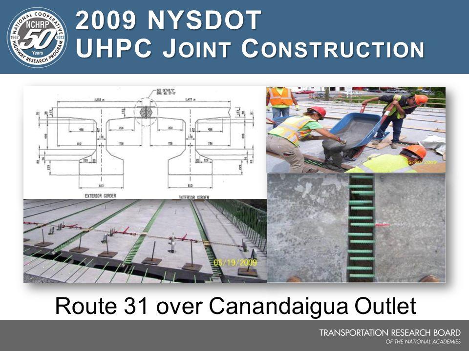 2009 NYSDOT UHPC Joint Construction