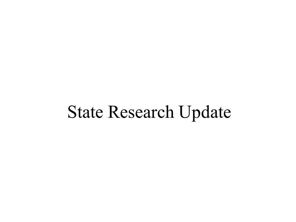 State Research Update