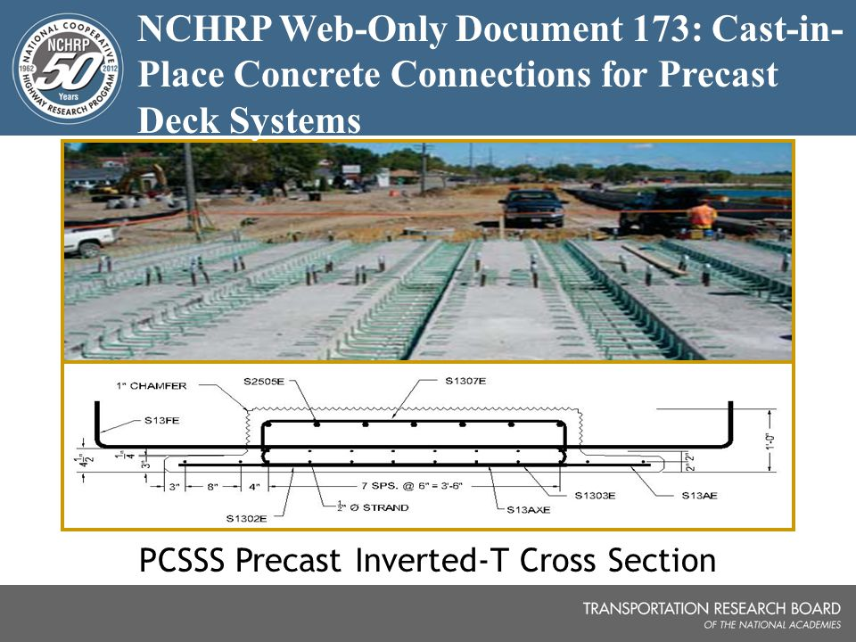 PCSSS Precast Inverted-T Cross Section