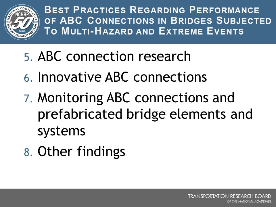 ABC connection research Innovative ABC connections