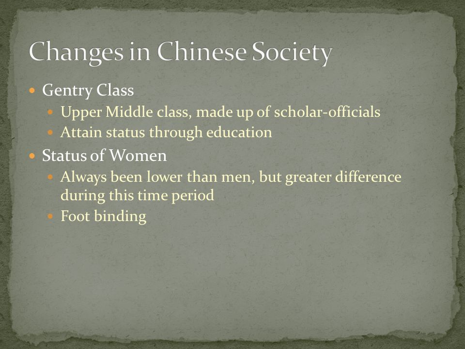 Changes in Chinese Society