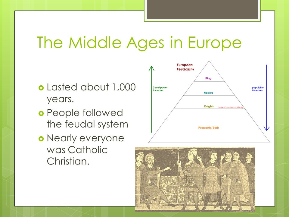The Middle Ages in Europe