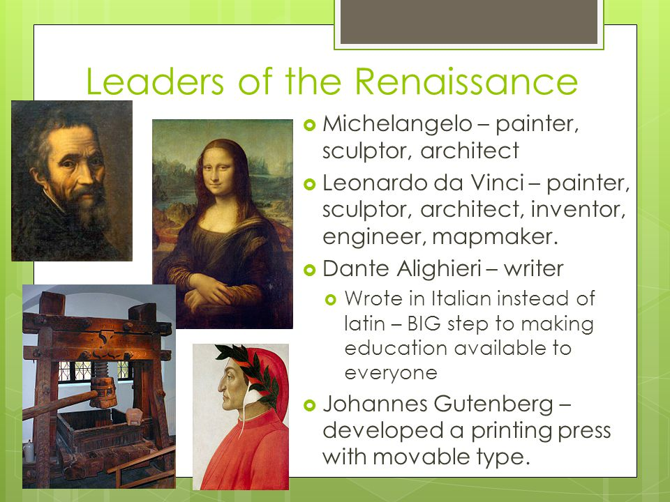 Leaders of the Renaissance