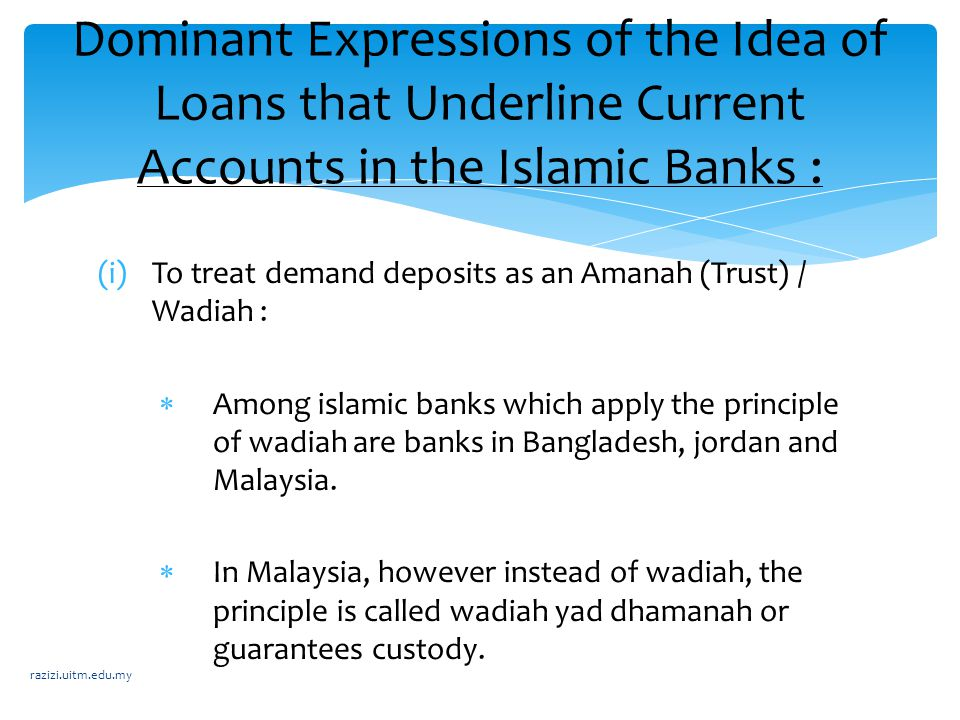 Dominant Expressions of the Idea of Loans that Underline Current Accounts in the Islamic Banks :