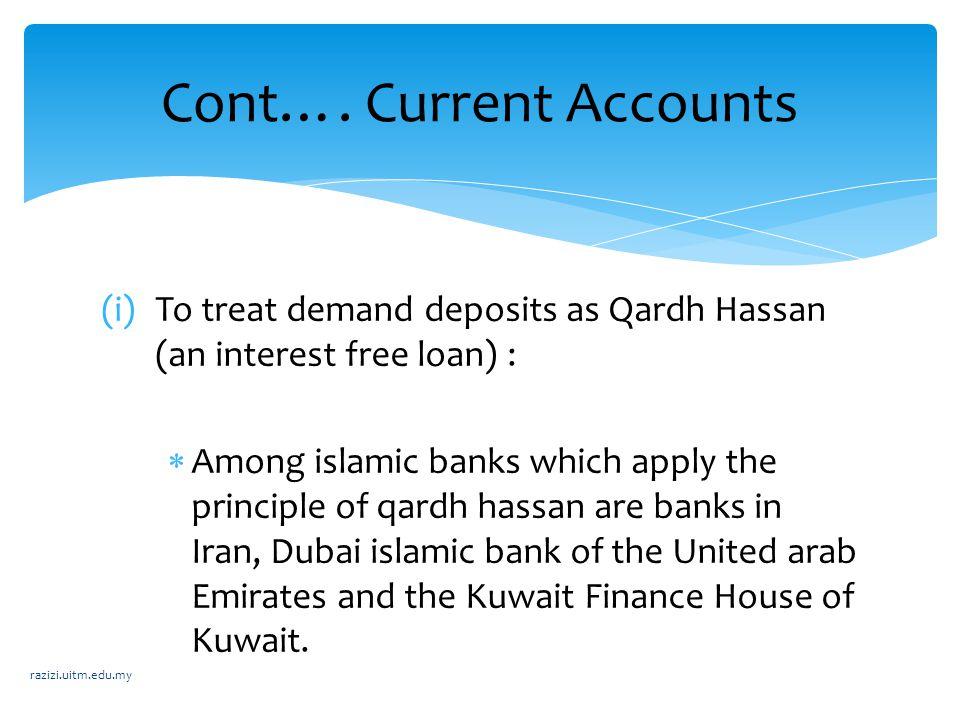 Cont…. Current Accounts