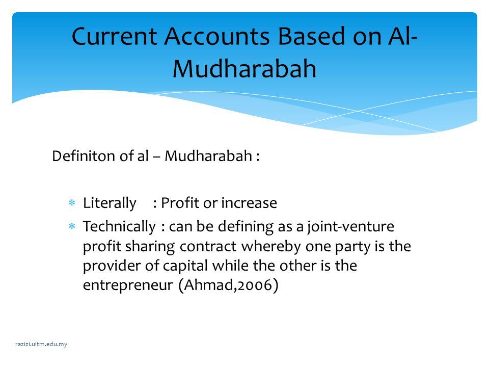 Current Accounts Based on Al-Mudharabah