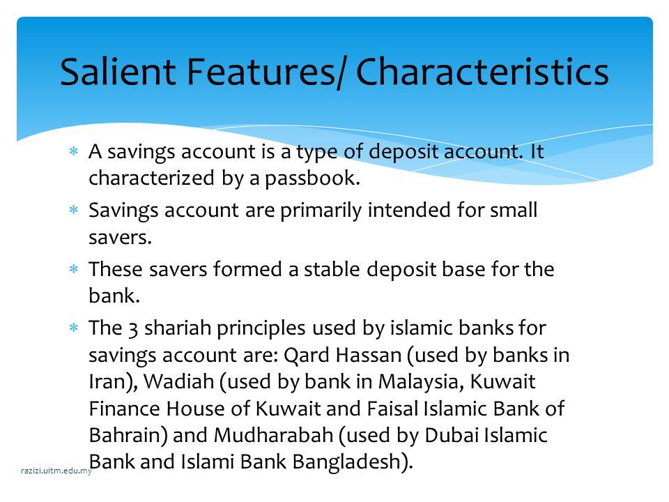Salient Features/ Characteristics