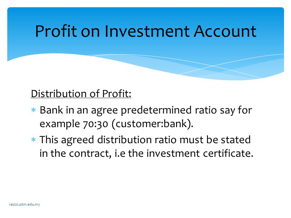 Profit on Investment Account