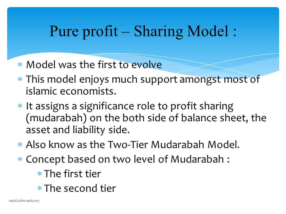 Pure profit – Sharing Model :