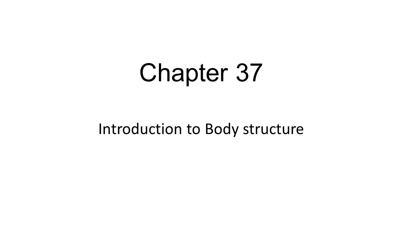 Introduction to Body structure
