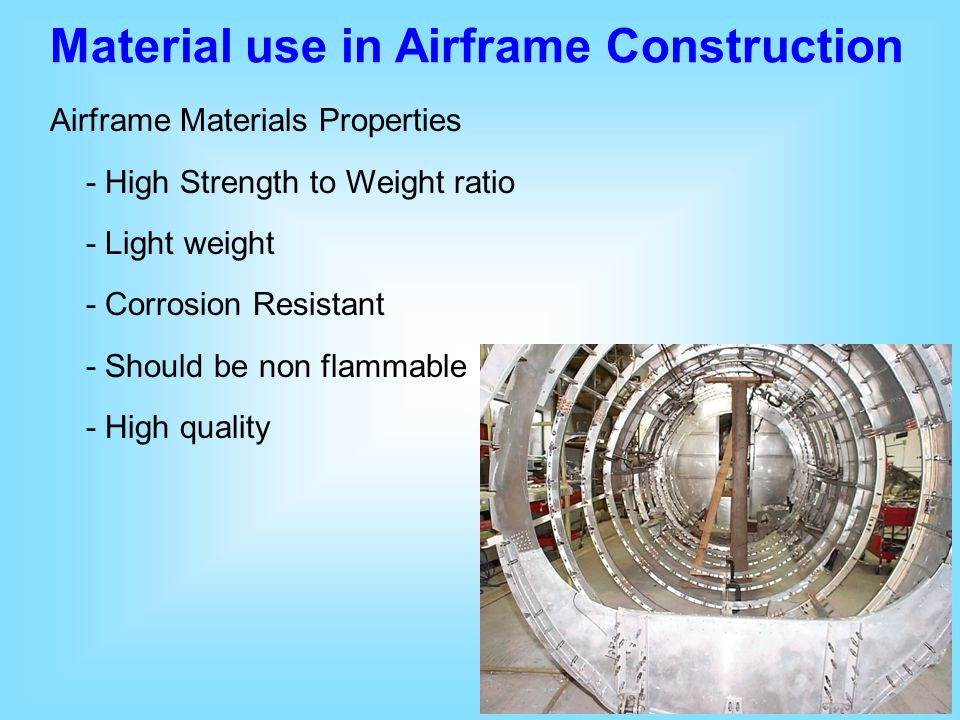 Material use in Airframe Construction
