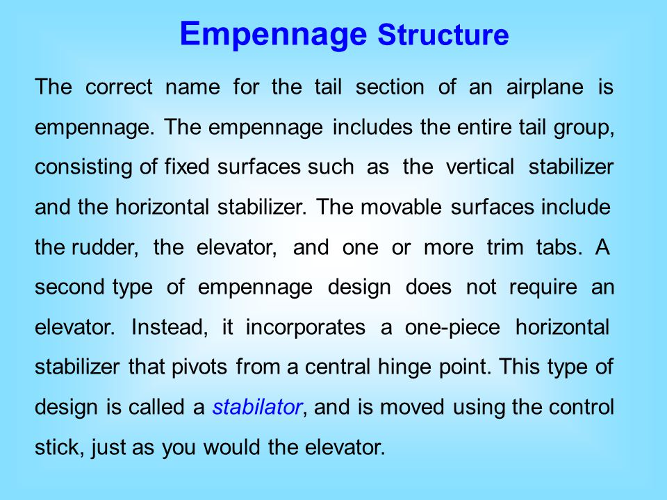 Empennage Structure