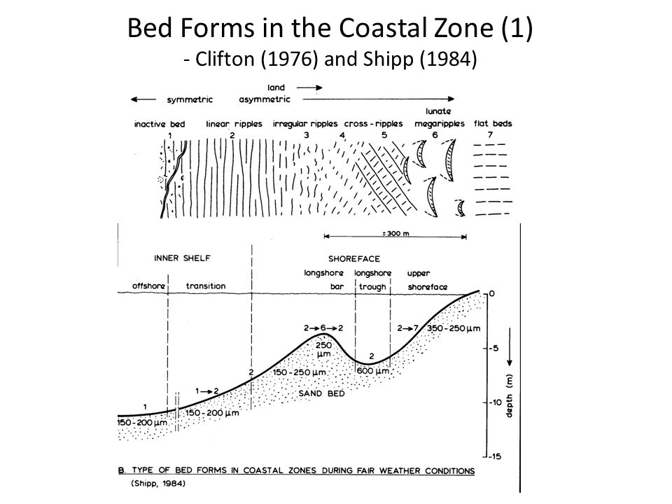 Bed Forms in the Coastal Zone (1) - Clifton (1976) and Shipp (1984)