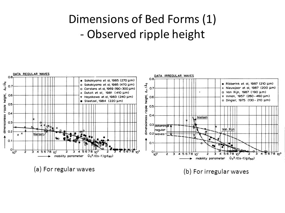 Dimensions of Bed Forms (1) - Observed ripple height