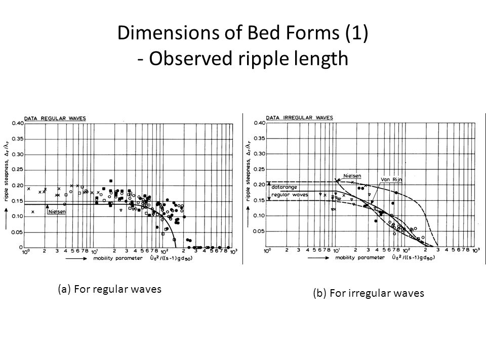 Dimensions of Bed Forms (1) - Observed ripple length