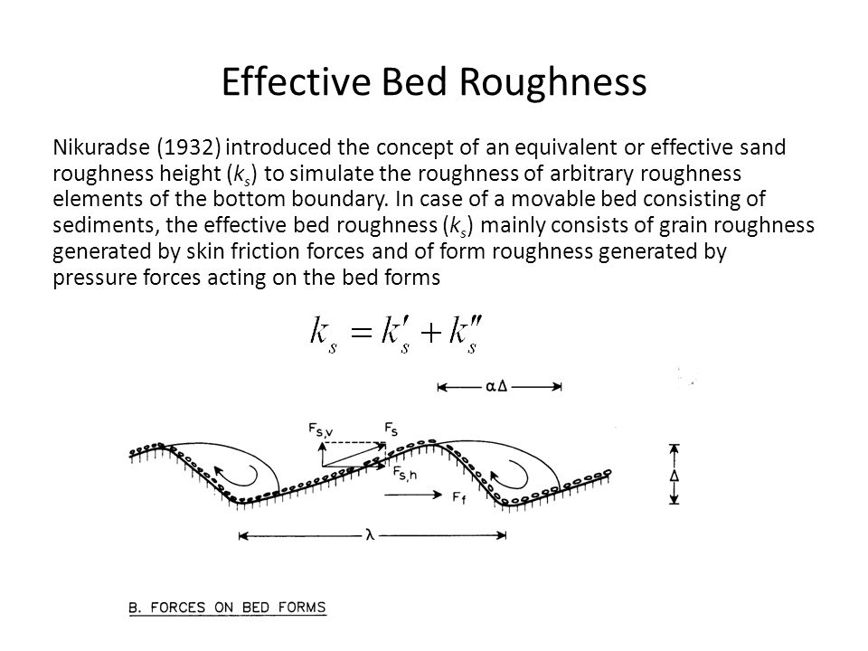 Effective Bed Roughness