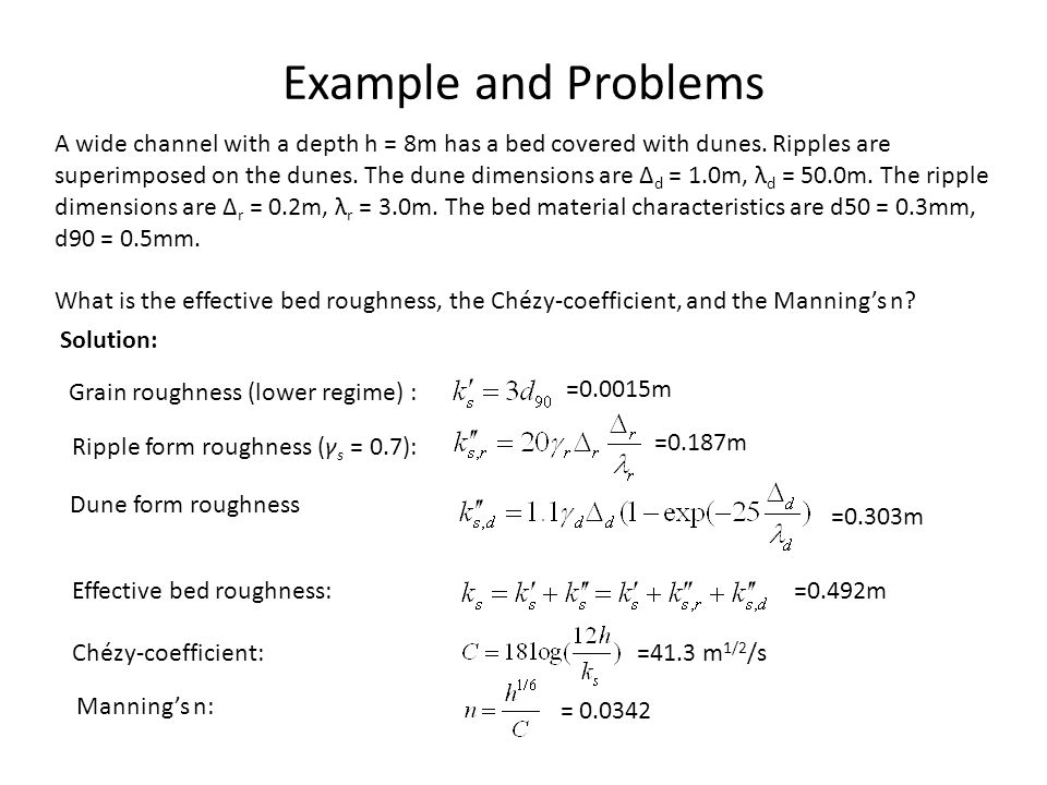 Example and Problems