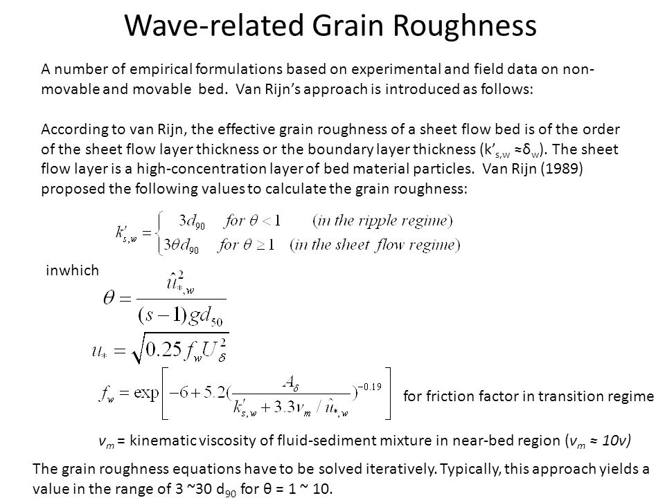 Wave-related Grain Roughness