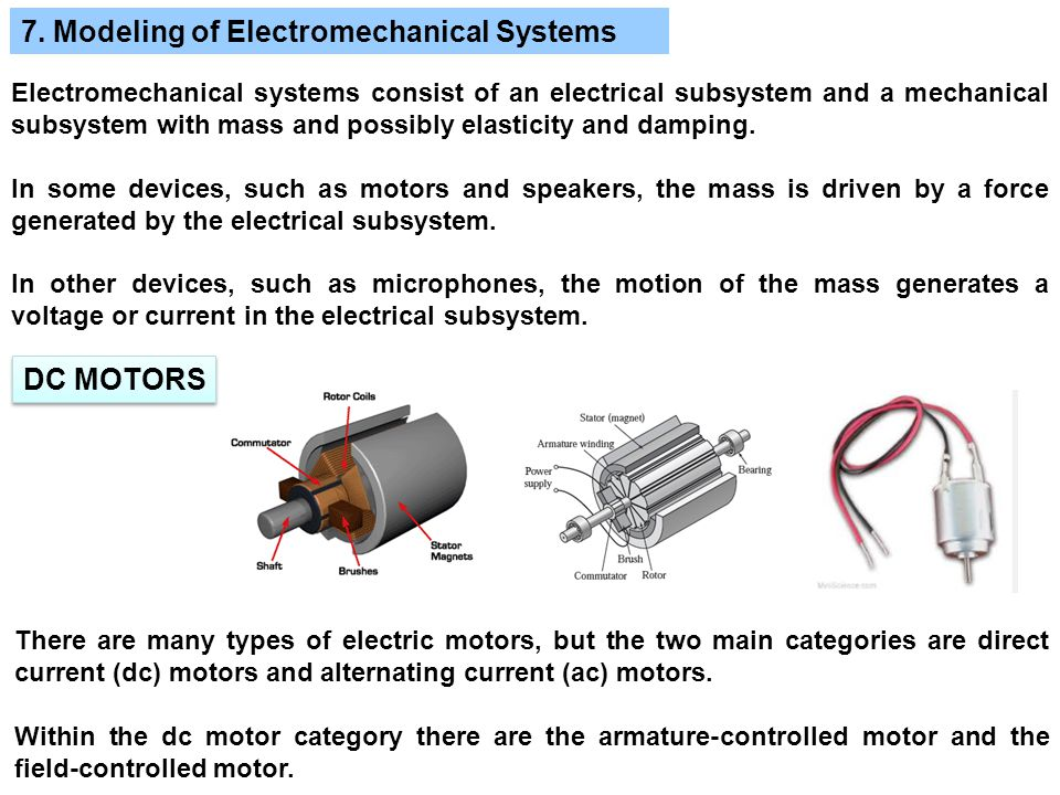 7. Modeling of Electromechanical Systems