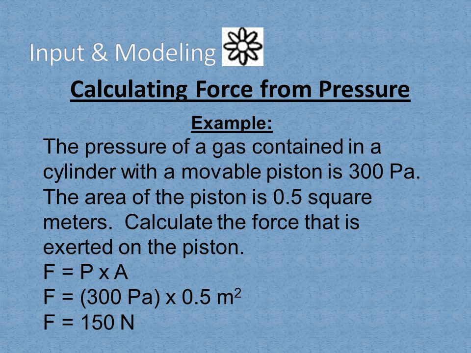 Calculating Force from Pressure