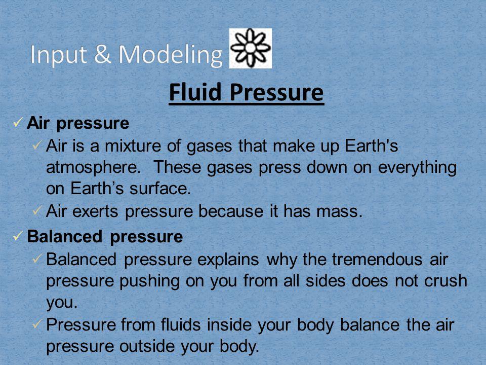 Input & Modeling Fluid Pressure Air pressure