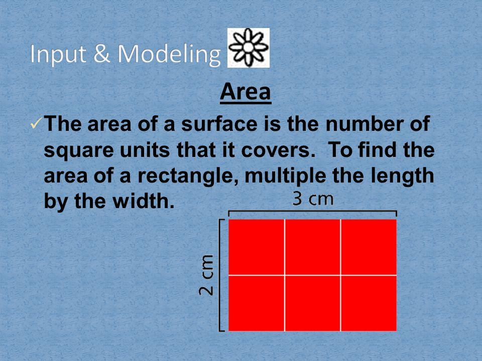 Input & Modeling Area.