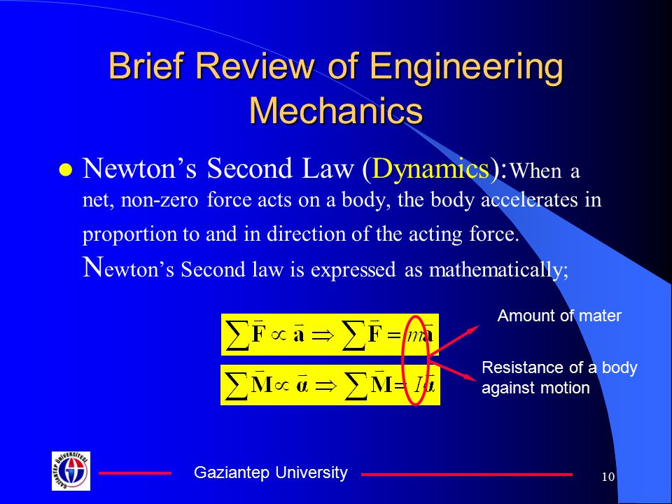 Brief Review of Engineering Mechanics